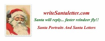 write Santa letter, Santa will reply...faster than reindeer fly!! Santa Letters and Santa Portraits.